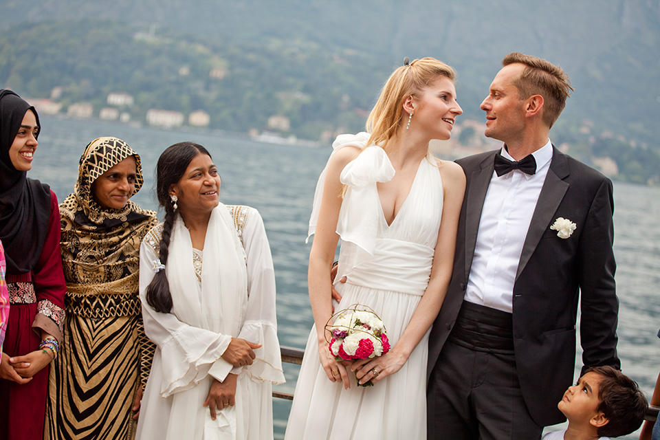 plener ślubny we Włoszech nad pięknym jeziorem