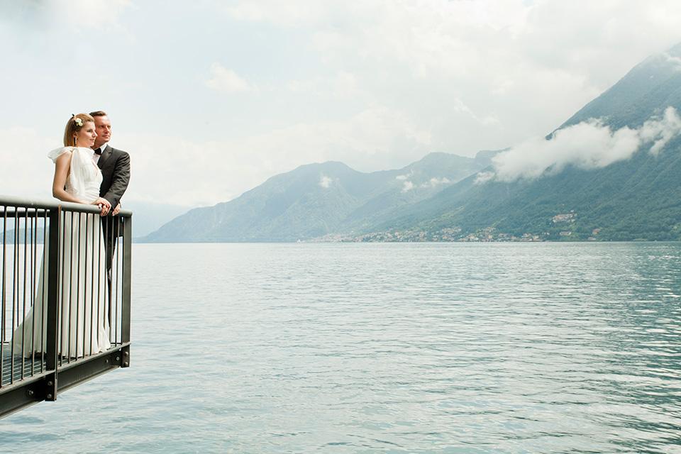 Plener ślubny we Włoszech nad jeziorem